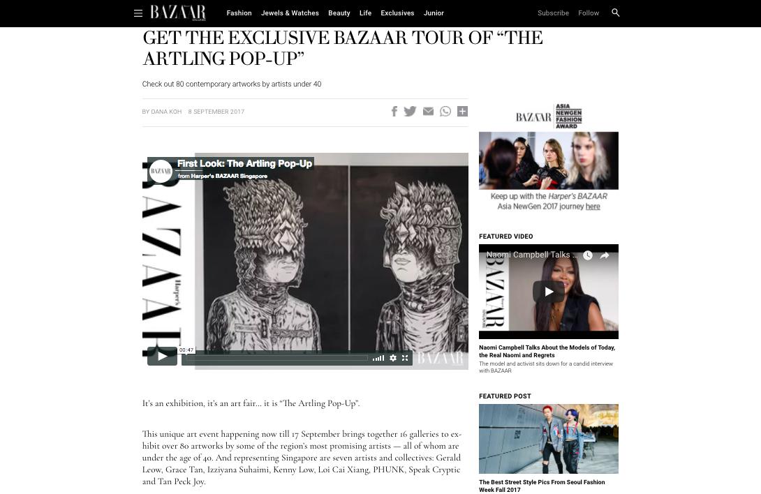 """Get the Exclusive Bazaar Tour of """"The Artling Pop-Up"""""""