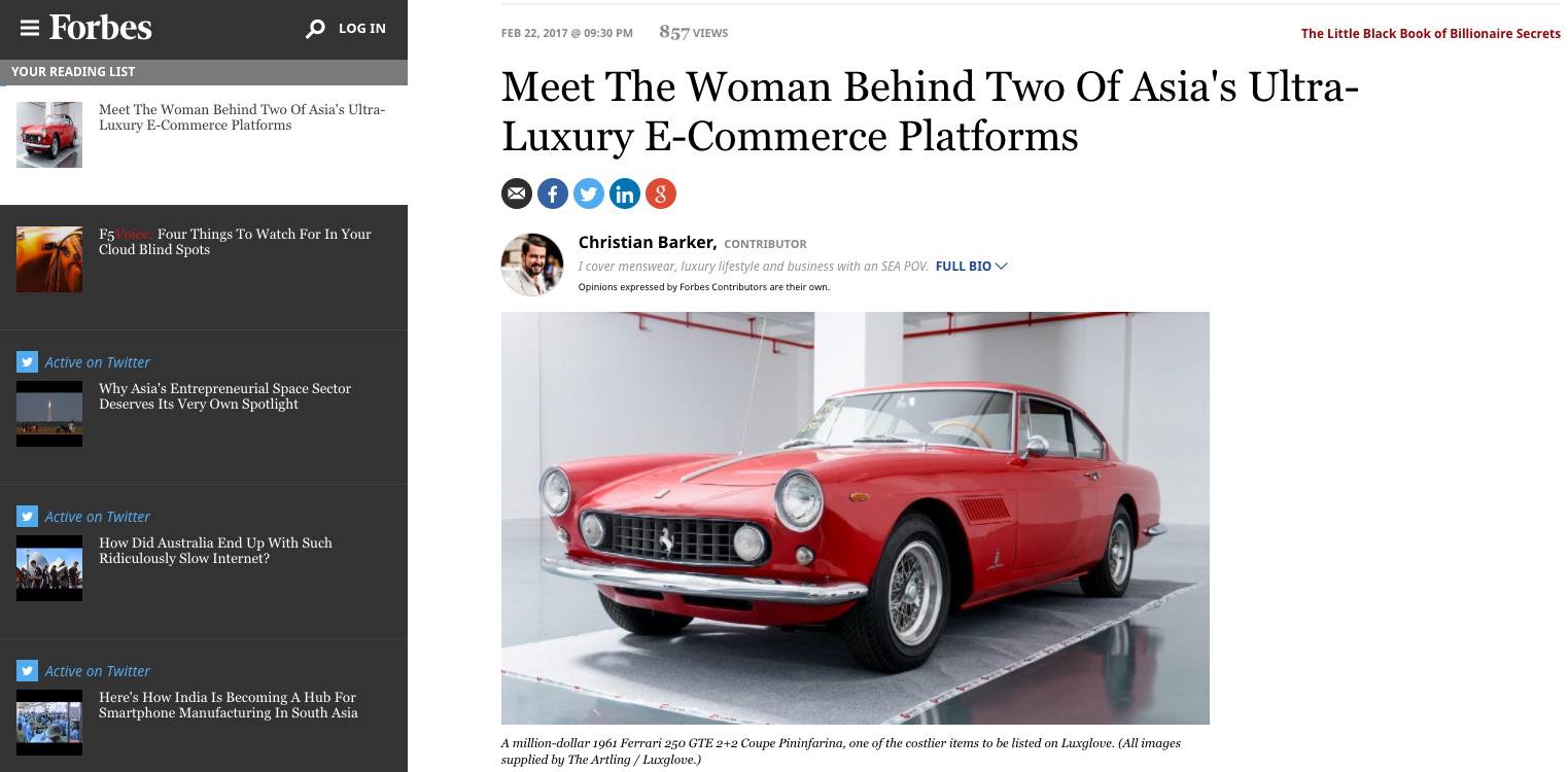 Meet The Woman Behind Two Of Asia's Ultra-Luxury E-Commerce Platforms