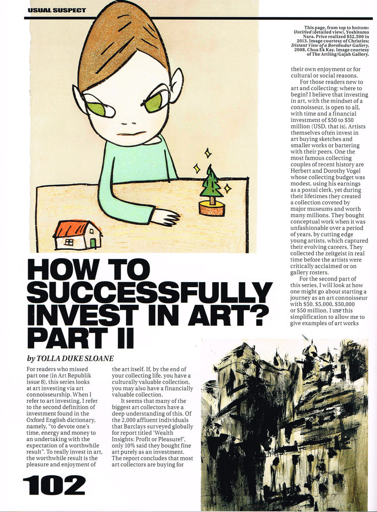 How to Successfully Invest in Art? Part II