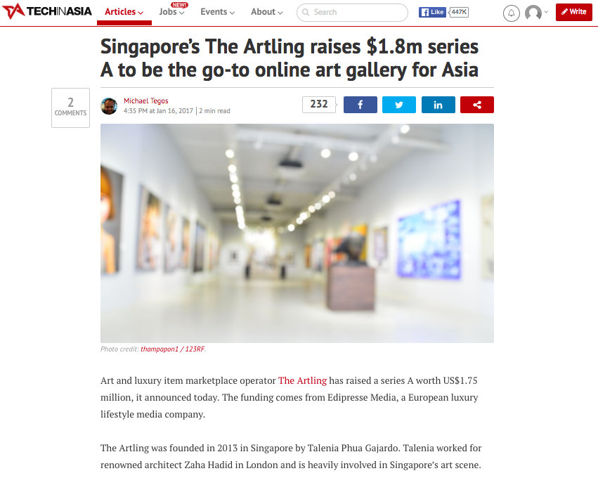 Singapore's The Artling raises $1.8m series A to be the go-to online art gallery for Asia