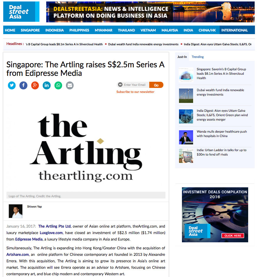 Singapore: The Artling raises S$2.5m Series A from Edipresse Media