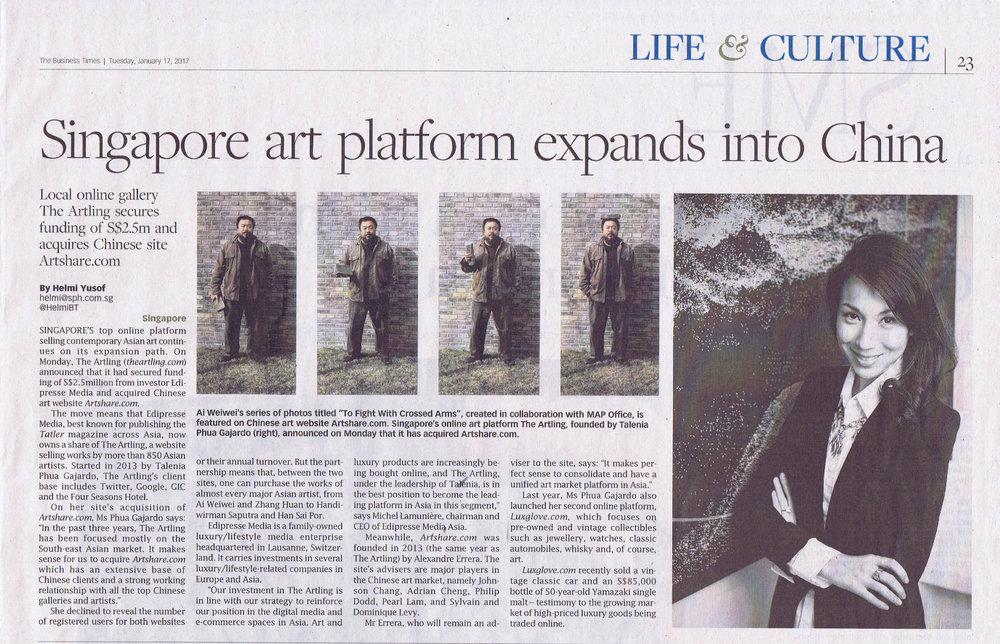 Singapore art platform expands into China